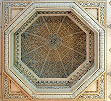 Ceiling of the library in Blenheim Palace by Arie Koene
