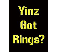 Pittsburgh Steelers Yinz Got RIngs? Photographic Print