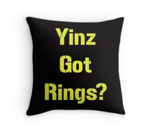 Pittsburgh Steelers Yinz Got RIngs? Throw Pillow