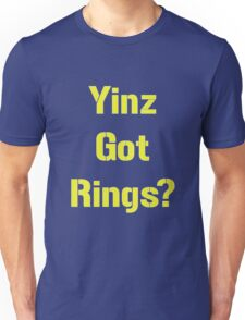 Pittsburgh Steelers Yinz Got RIngs? Unisex T-Shirt