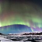 Panorama of the Northern Lights by Frank Olsen