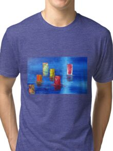 Tranquil   Reflections. Tri-blend T-Shirt
