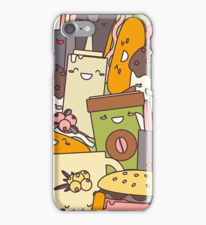 Fast  Food illustration iPhone Case/Skin