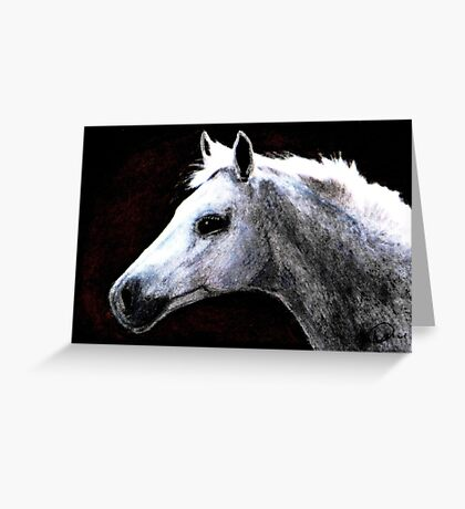 Portrait of a Pale Horse Greeting Card