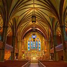 USA. Connecticut. New Haven. Trinity Church on the Green. Interior. by vadim19