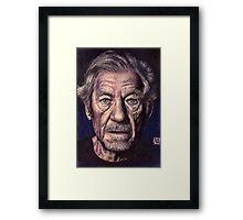 Sir Ian Mckellen Framed Print