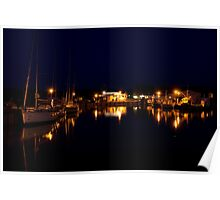 Rügen: Thiessow Harbour at Night Poster