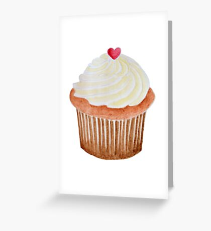 Valentine's Cupcake Greeting Card