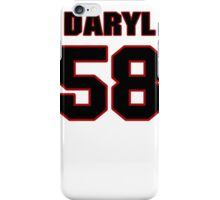 NFL Player Daryl Washington fiftyeight 58 iPhone Case/Skin