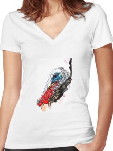 Jive Turkey Women's Fitted V-Neck T-Shirt