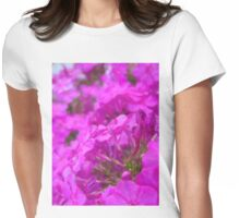 Pink flowers Womens Fitted T-Shirt