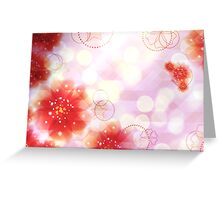 Pink flowers background Greeting Card