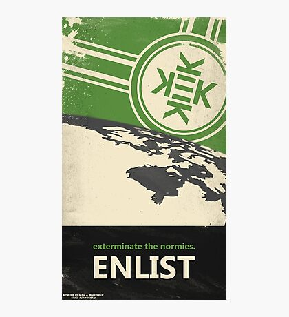 Exterminate the normies. - Kekistan Poster Photographic Print