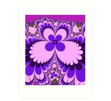 Fantasy Flower in Purple and Pink Art Print