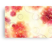 Pink flowers background 3 Canvas Print