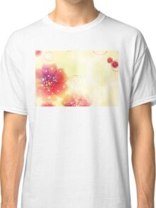 Pink flowers background 4 Classic T-Shirt