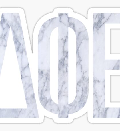 Marble Greek Letters (white two) Sticker