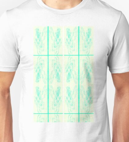 Zombie Guy Tri Alt Scan Mirror Quad Teal Unisex T-Shirt