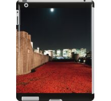 Poppies at theTower of London - At Night with the Shard. iPad Case/Skin