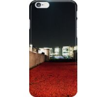 Poppies at theTower of London - At Night with the Shard. iPhone Case/Skin