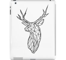 Black Wire Faceted Stag Trophy Head iPad Case/Skin