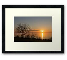 Calm, Sunny and Peaceful - a Lake Shore Daybreak Framed Print