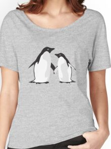 Cute Christmas Penguins Women's Relaxed Fit T-Shirt