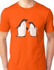 Cute Christmas Penguins Unisex T-Shirt