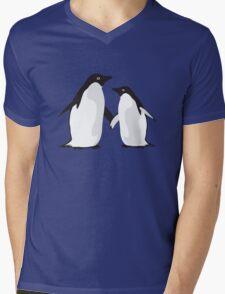 Cute Christmas Penguins Mens V-Neck T-Shirt