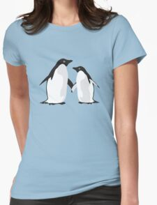 Cute Christmas Penguins Womens Fitted T-Shirt