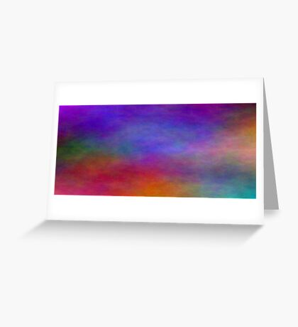 Blue Red Yellow Green Landscape Greeting Card