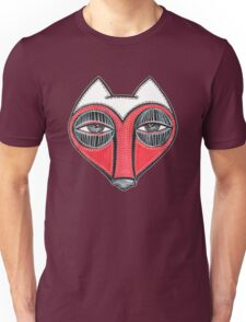 fox face heart Unisex T-Shirt