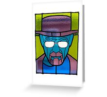 Heisenberg Stained Glass Greeting Card