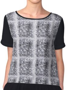 Without Color - Original Abstract Pattern Chiffon Top
