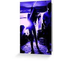 Punk Rock Blues Greeting Card