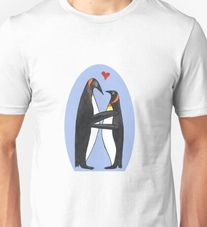 Pinguin in love Unisex T-Shirt