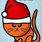 A moody cat in Christmas spirits by Richard Eijkenbroek