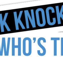 Knock Knock Sticker