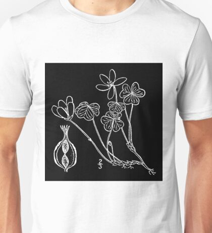 Britton And Brown Illustrated flora of the northern states and Canada 1047 Oxalis montana BB 1913 Unisex T-Shirt
