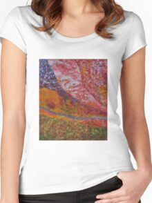 036 Abstract Thought Women's Fitted Scoop T-Shirt