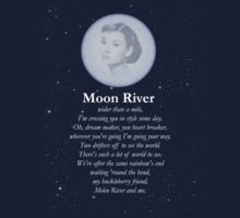 Moon River Poster + T-shirt Kids Clothes