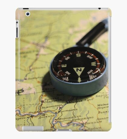 magnetic compass direction of north iPad Case/Skin