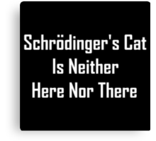 Schrodinger's Cat Is Neither Here Nor There Canvas Print