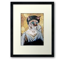 Greek Lady Cat Framed Print