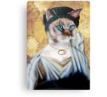 Greek Lady Cat Canvas Print