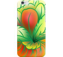 Green Healthy Living Flower Abstract iPhone Case/Skin