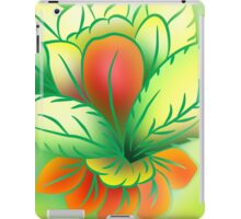 Green Healthy Living Flower Abstract iPad Case/Skin