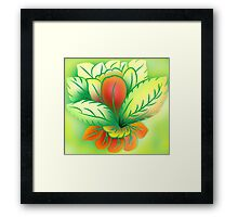 Green Healthy Living Flower Abstract Framed Print
