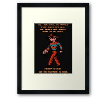 FREDDY Nightmare on Elm Street 8-bit NES Framed Print