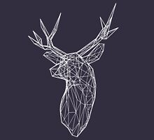 3D White Wire Stag Trophy Head Unisex T-Shirt